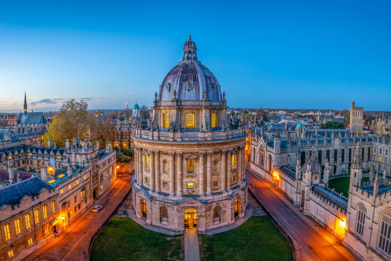 Evening Skyline of Oxford featuring the Bodleian Library