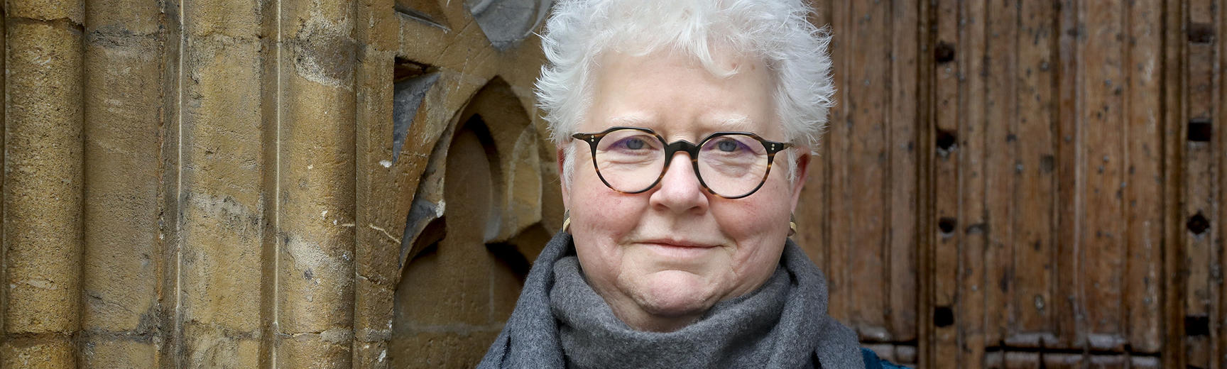 Val McDermid best-selling crime fiction novelist pictured at St Hilda's