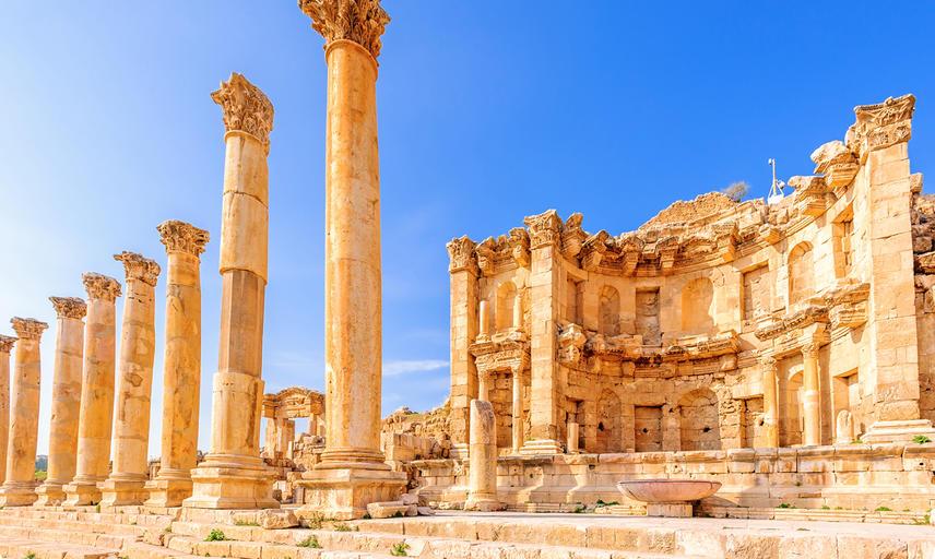 Nymphaeum in the Roman city of Gerasa, preset-day Jerash, Jordan - Shutterstock